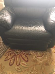 leather chair needs stuffing